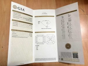 GIA-Gemological Institute of America, Gemological Certificate, diamond