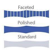 סימטריה, עוקץ במרכז, לוח במרכז, רונדיסט עגול, כתר חופף לפוויליון, משטחי ליטוש שווים, נייפים, נטיות