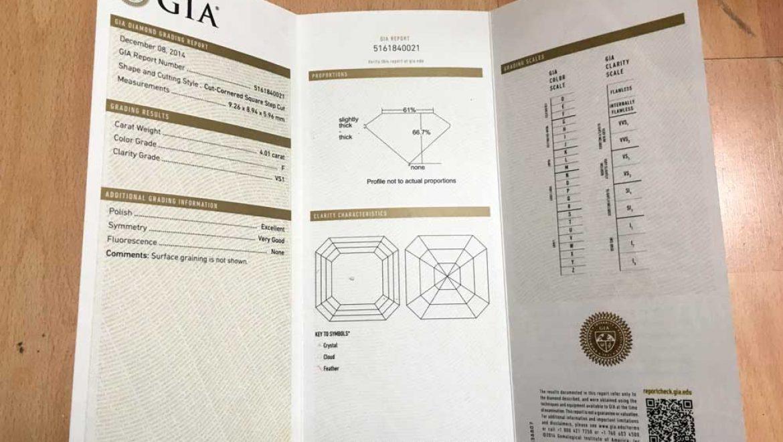 Gemological Certificate & Plotting Clarity Inclusions in a Gemological Certificate